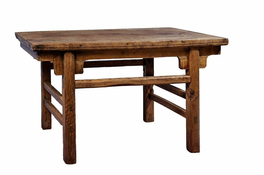 Antique Revival Rectangular Rustic Coffee Table, Reclaimed