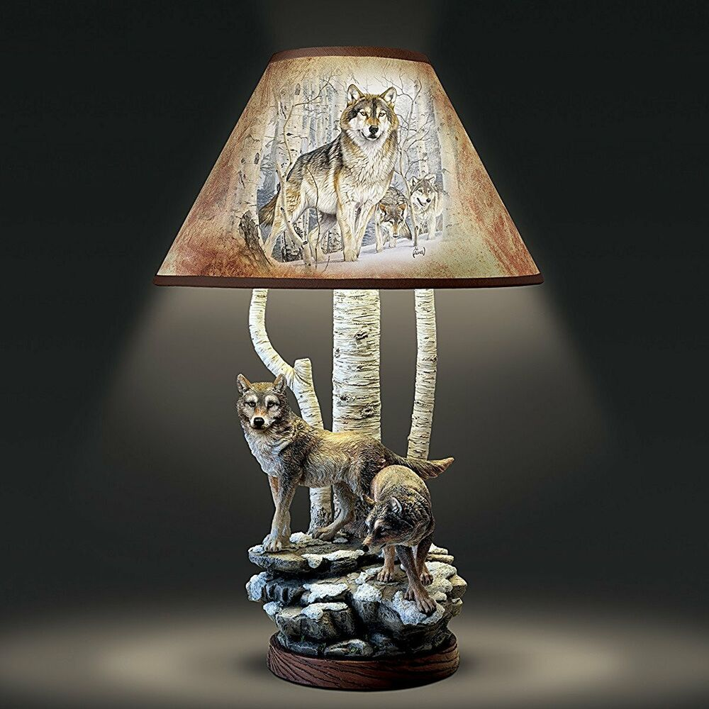 Al Agnew Wolf Table Lamp Spirits Of The Forest Limited Edition New 0119317001 Ebay