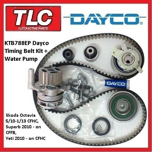 Ktb ep timing belt kit wp skoda octavia cfhc superb