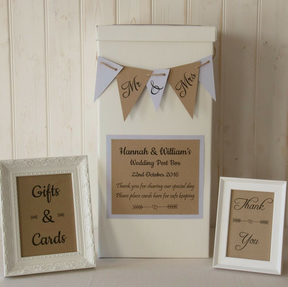 personalised WEDDING CARD POST BOX twine BUNTING Gifts & Cards SIGNS ...