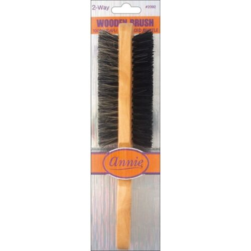 Annie Wooden Brush Two Way Sided Soft Hard 100% Boar Bristle Hair Comb #2092