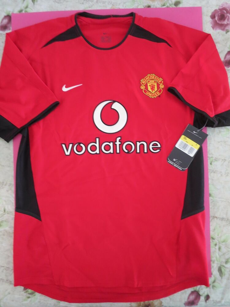 4f2e885dc8f BNWT MANCHESTER UNITED 2002-04 Home Football Jersey Shirt Camiseta Mens  Sizes