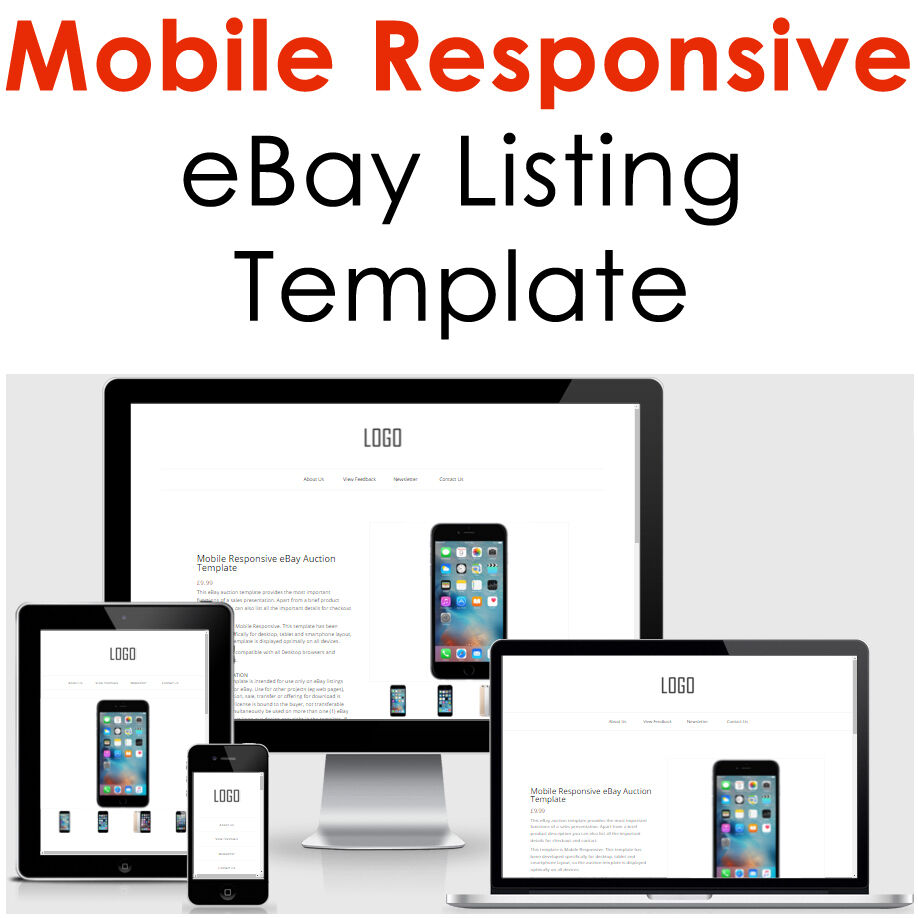 Mobile responsive ebay listing template auction gallery for Ebay template design software