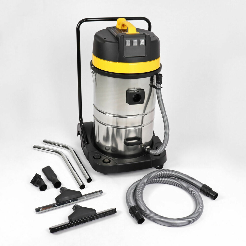 wet and dry vacuum vac cleaner industrial 80ltr 3000w stainless steel ebay. Black Bedroom Furniture Sets. Home Design Ideas