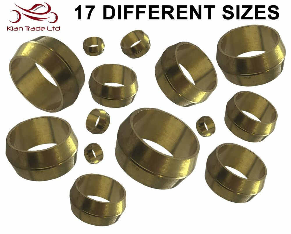 Brass compression olives plumbing fittings adapter metric