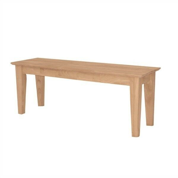 Dining Table Bench Solid Wood Benches Kitchen Furniture Natural Seat Unfinished Ebay