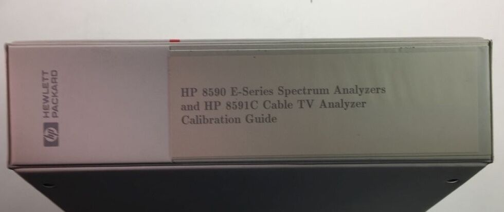 HP 8590 E-Series & HP 8591C Cable TV Calibration Guide P/N 5962-5065 | eBay