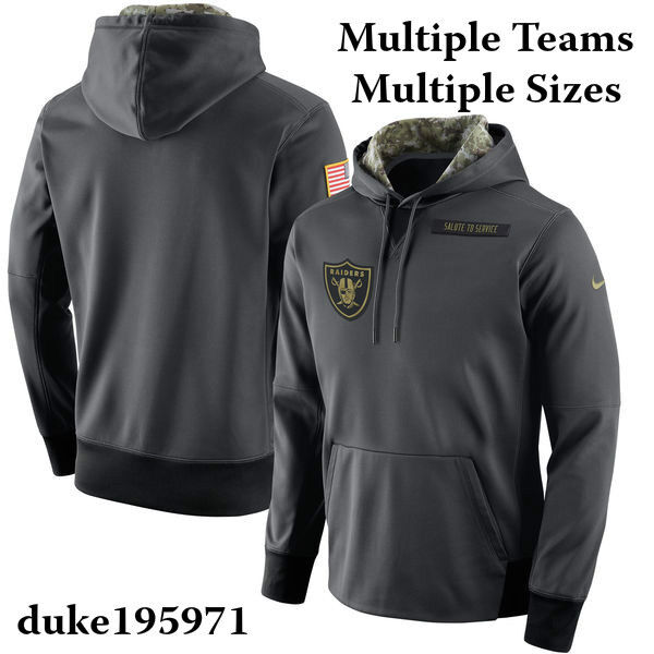 cc692f59387 Details about Nike 2016 NFL Salute to Service Black Hoodie/Hoody Mens  Limited Edition STS-New