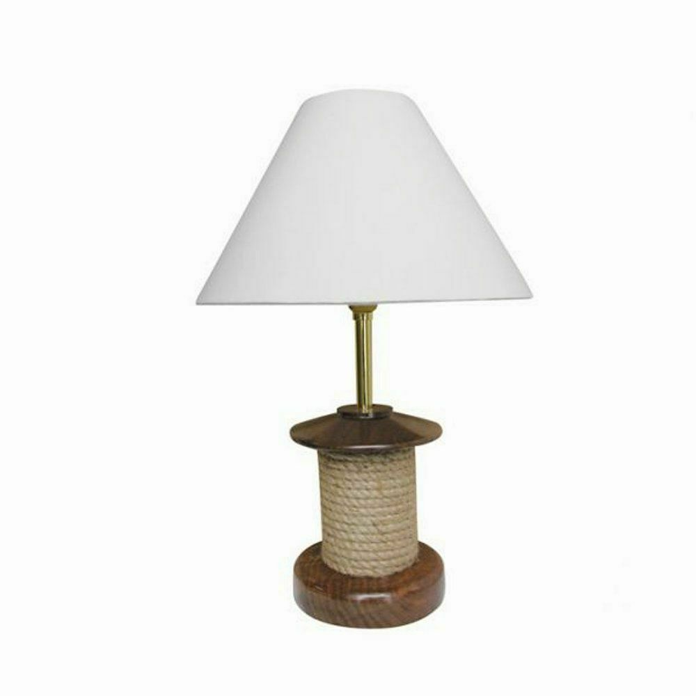 g4090 maritime tischleuchte taulampe seilrollen lampe heller schirm 39 cm ebay. Black Bedroom Furniture Sets. Home Design Ideas