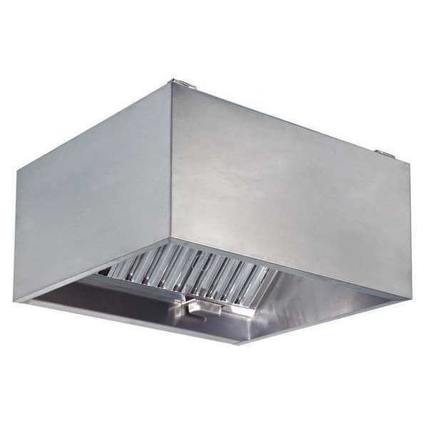 "Kitchen Exhaust Systems: 48"" Commercial Kitchen Exhaust Hood, Dayton, 20UD05"