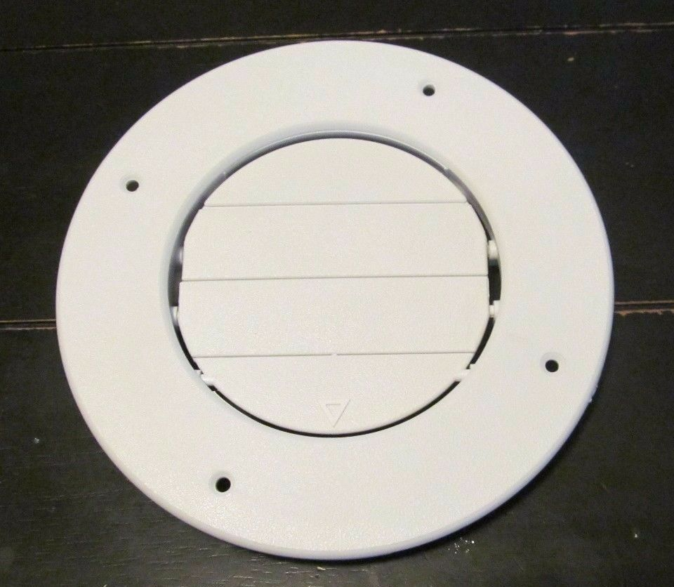 Rv Round Ac Ceiling Vent White Open Close Adjustable