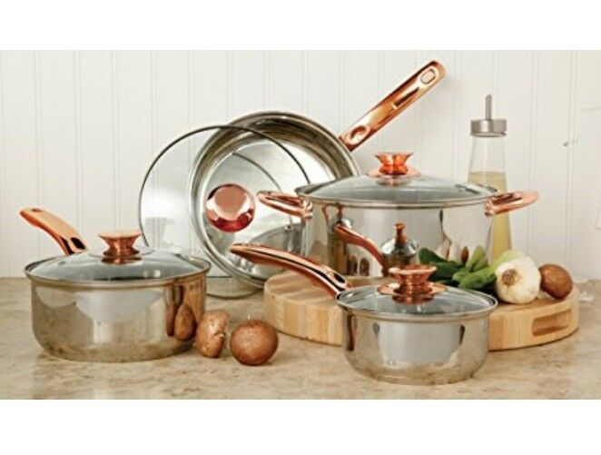 Stainless Steel Cookware Set Pots And Pans Glass Lid Sauce