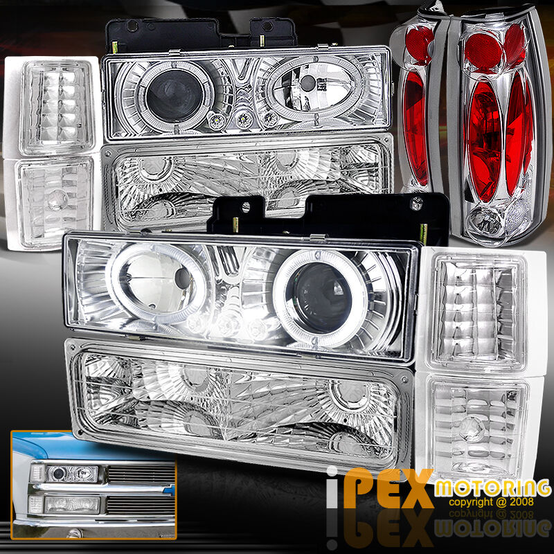 1994 1998 chevy silverado tahoe 10pcs halo projector led. Black Bedroom Furniture Sets. Home Design Ideas