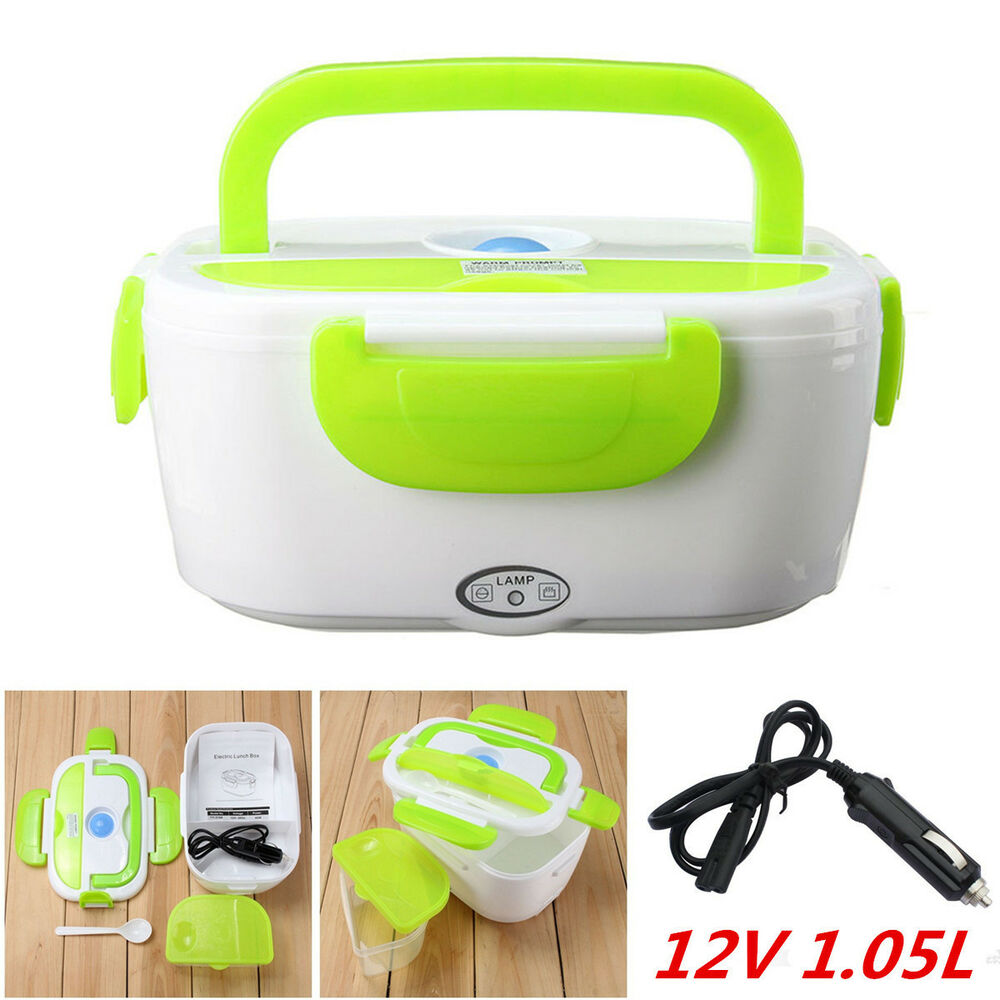 12V Portable Electric Heated Car Plug Heating Lunch Box