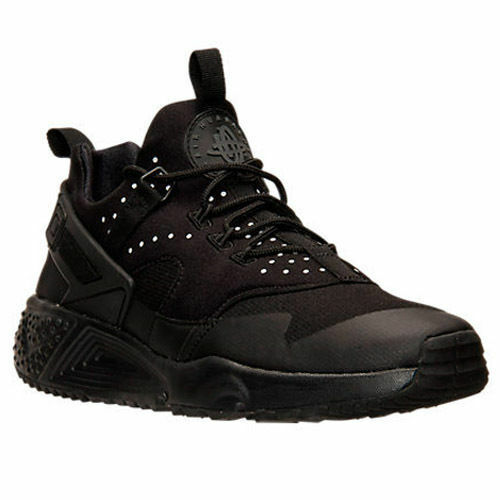 new concept bc3bb a1693 Details about Men s Nike Air Huarache Utility Triple Blk Reflect Running  Shoes 806807 002 Sz 8
