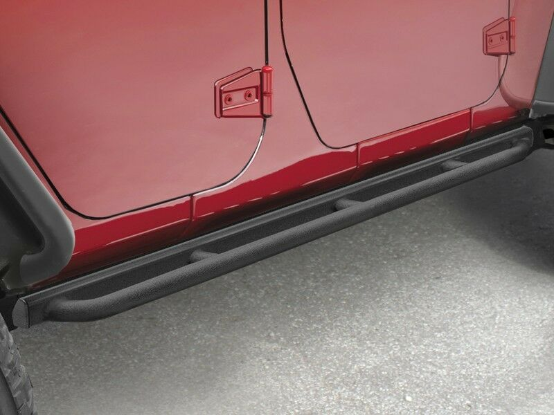 07 16 Jeep Wrangler New Tubular Rock Rails Satin Black 4dr