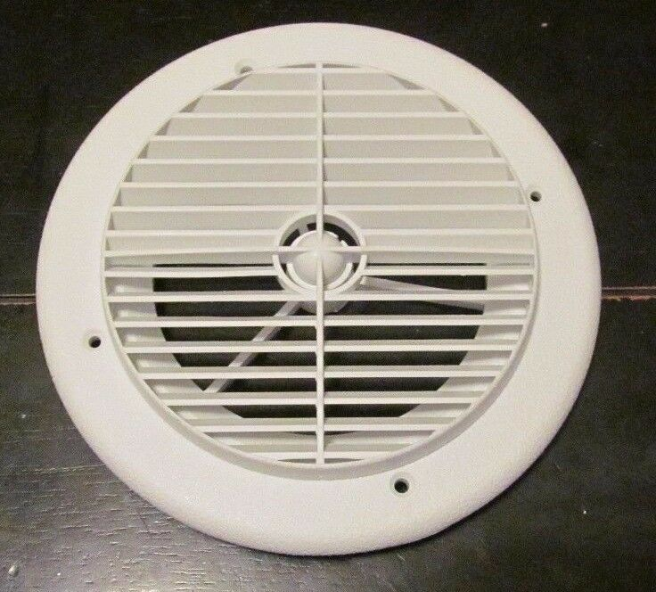 7 Quot White Round Ceiling A C Air Port Vent Rotate Louvers 1
