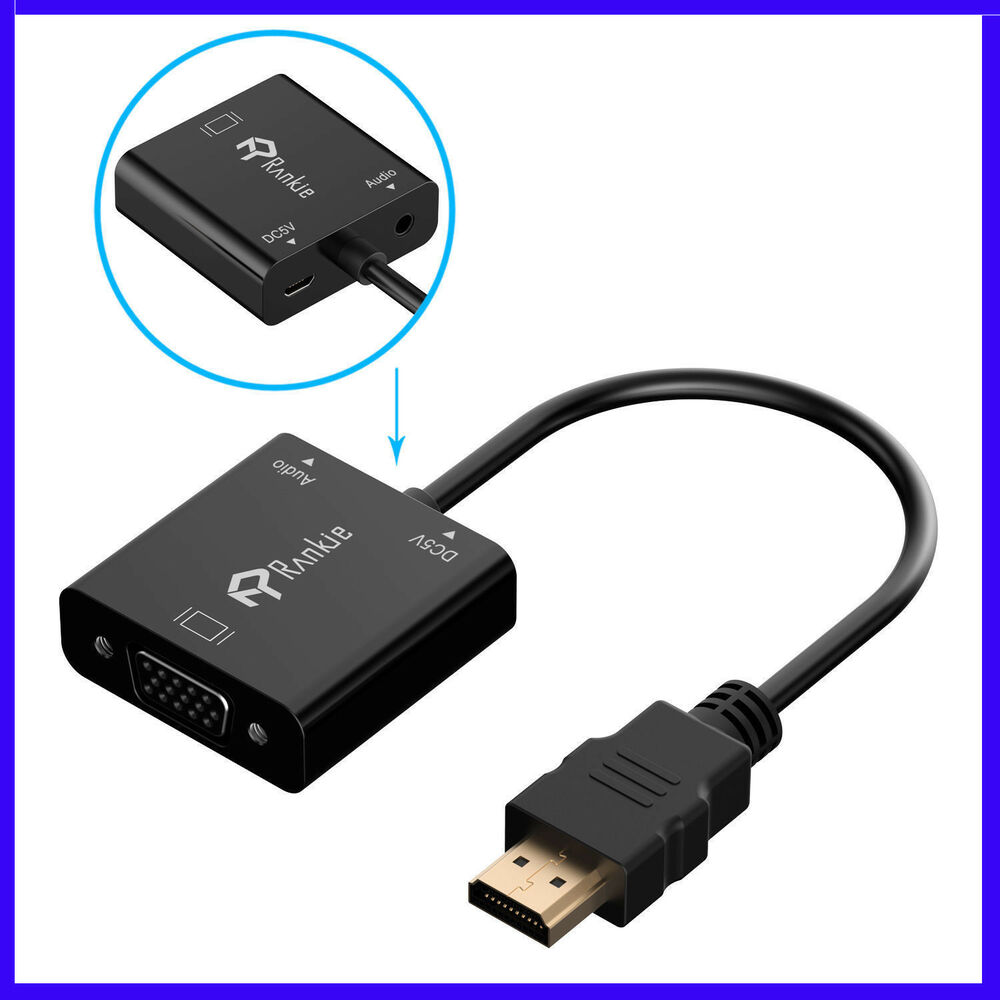 3 in 1 hdmi to vga adapter cable converter with micro usb. Black Bedroom Furniture Sets. Home Design Ideas