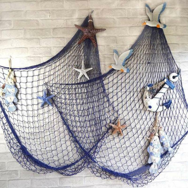Nautical fishing net seaside beach themed party diy sea for Fishing net for sale