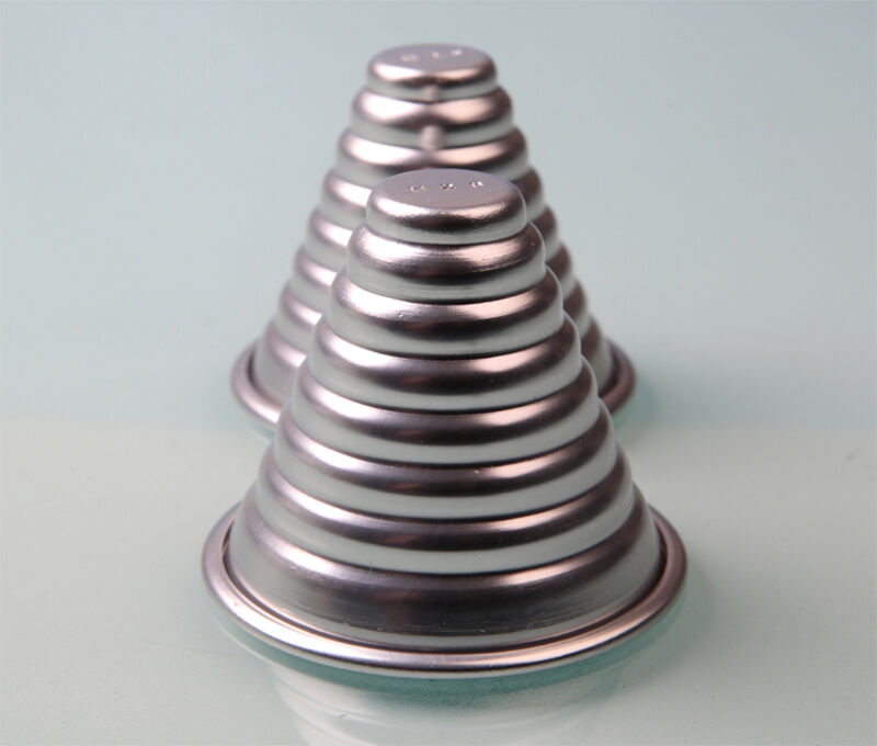 Unique Jelly Pudding Aluminum Alloy Metal Layer Cone Conus