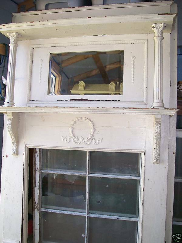 Ornate Wood Victorian Fireplace Mantle Mantel Columns