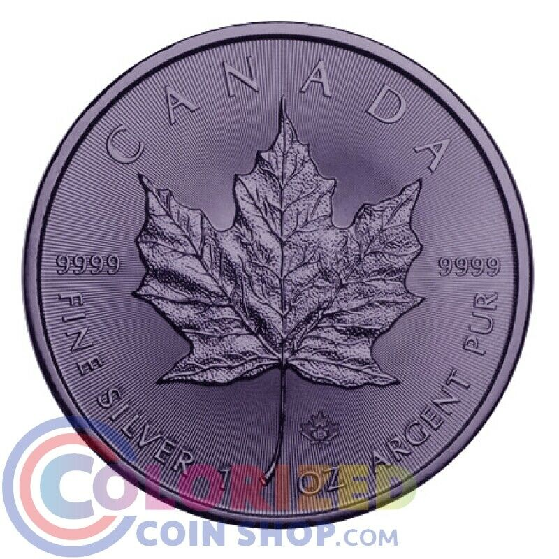 2015 5 Canada 1 Oz 9999 Fine Silver Maple Ruthenium Coin