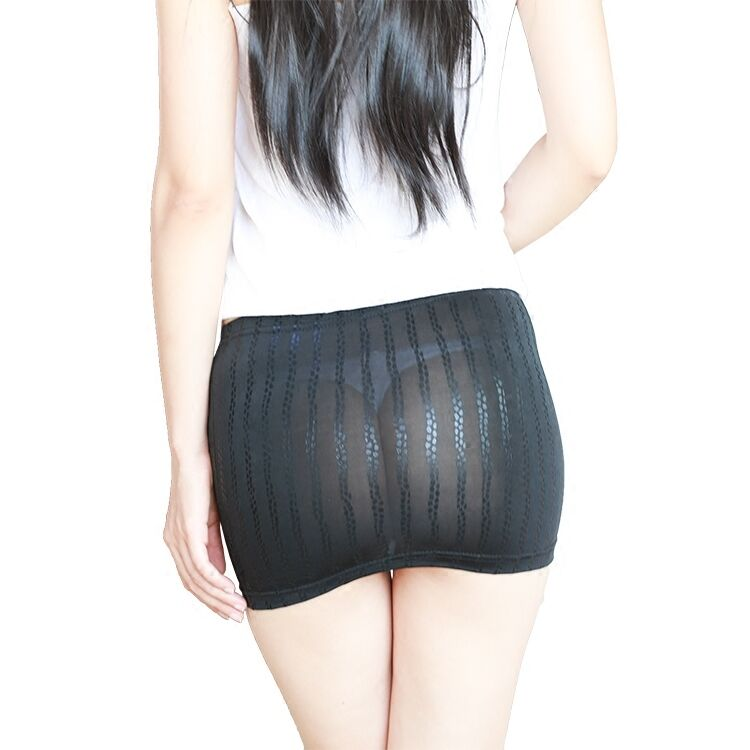 Bodycon Bandage Skirt See Through Micro Mini Booty Leather