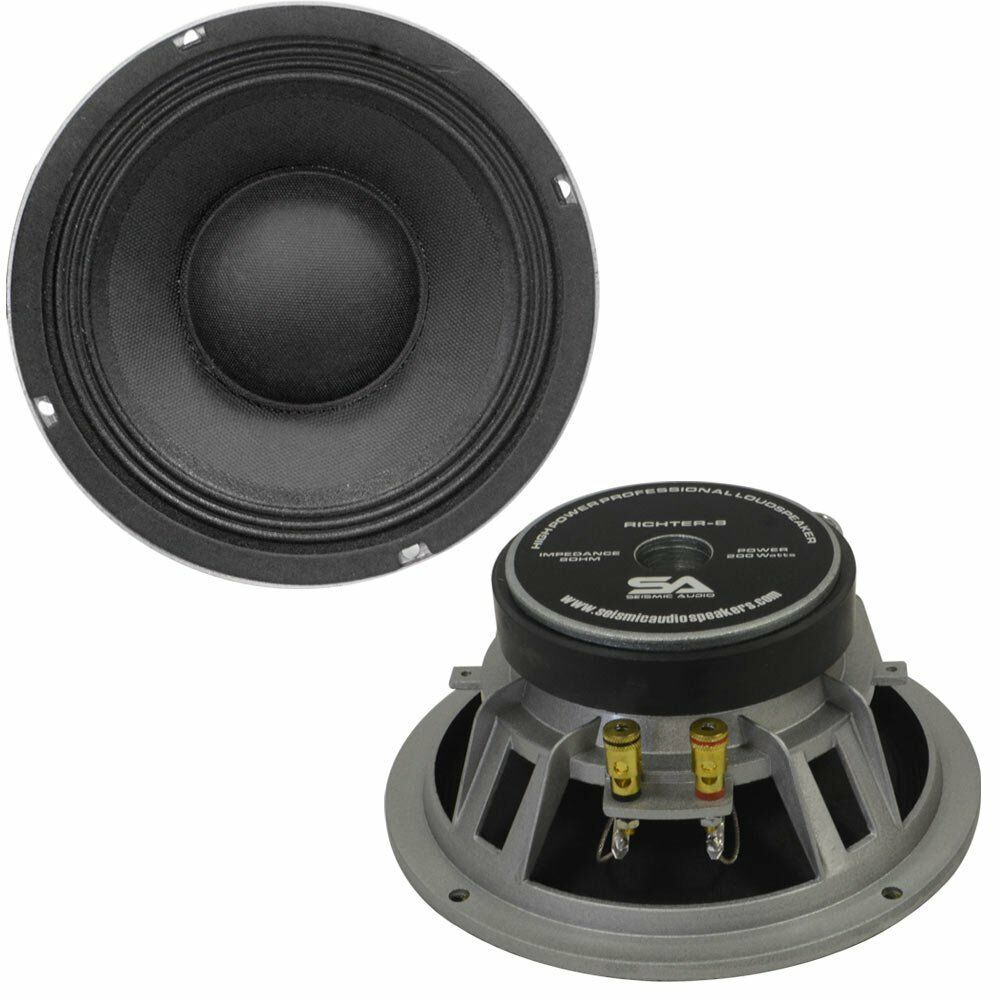 seismic audio pair of 8 raw speakers woofers 175 w rms pa replacements 8 ohm 847861017521 ebay. Black Bedroom Furniture Sets. Home Design Ideas