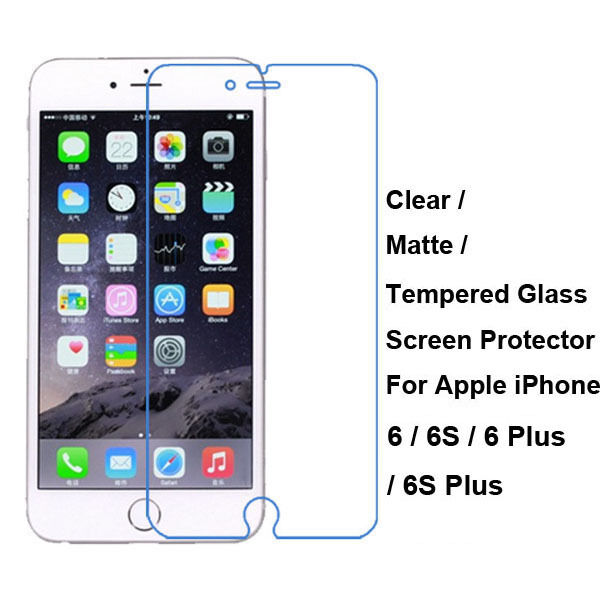 iphone 6 screen protector tempered glass clear matte screen protector guard for 15075