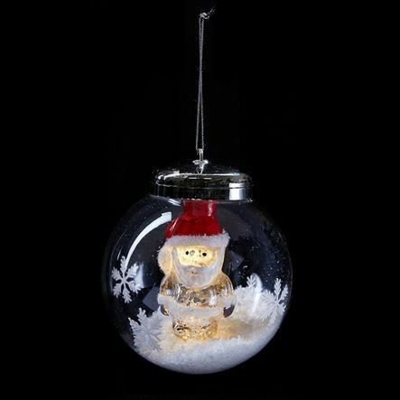 Led light up ornament hanging christmas bauble decoration for Light up christmas decorations