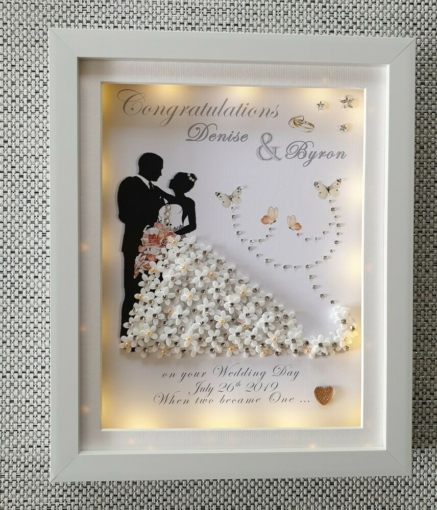 Wedding Present Box Elder Lyrics : LED LIGHT BOX PERSONALISED DEEP BOX FRAME WEDDING ANNIVERSARY MR MRS ...