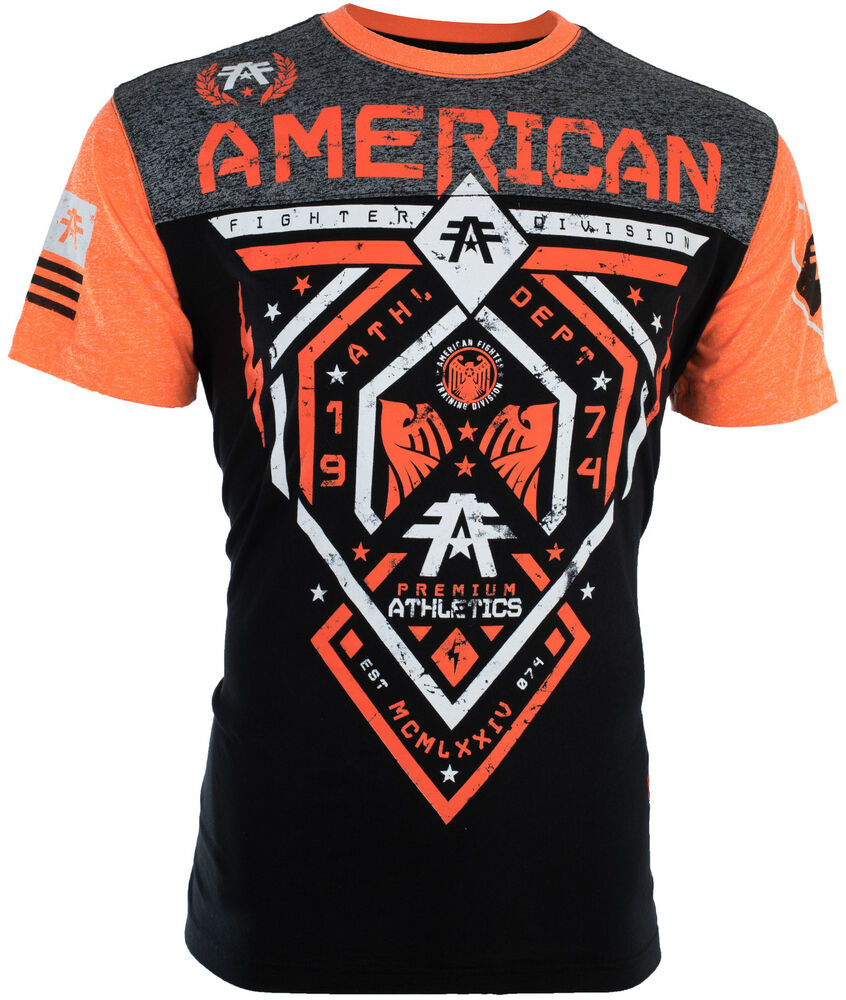 American fighter mens t shirt fairbanks athletic black for Wholesale t shirts american apparel