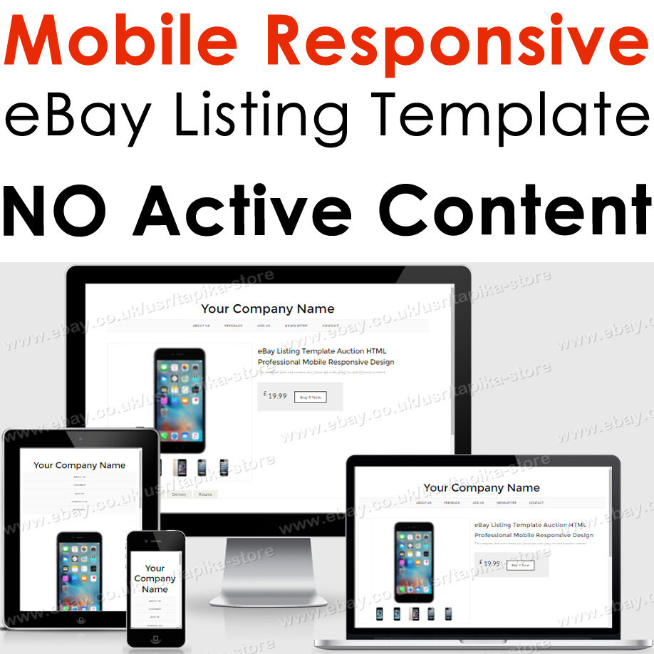 Template Responsive Ebay Listing Html Auction Professional Mobile - Ebay listing templates