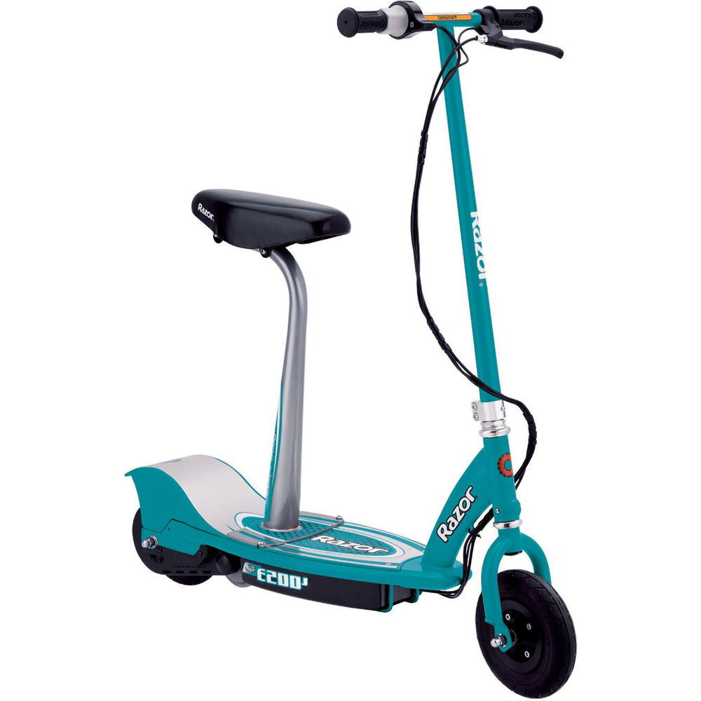 Razor E200S Seated Electric Scooter - Teal - 13112745 | eBay