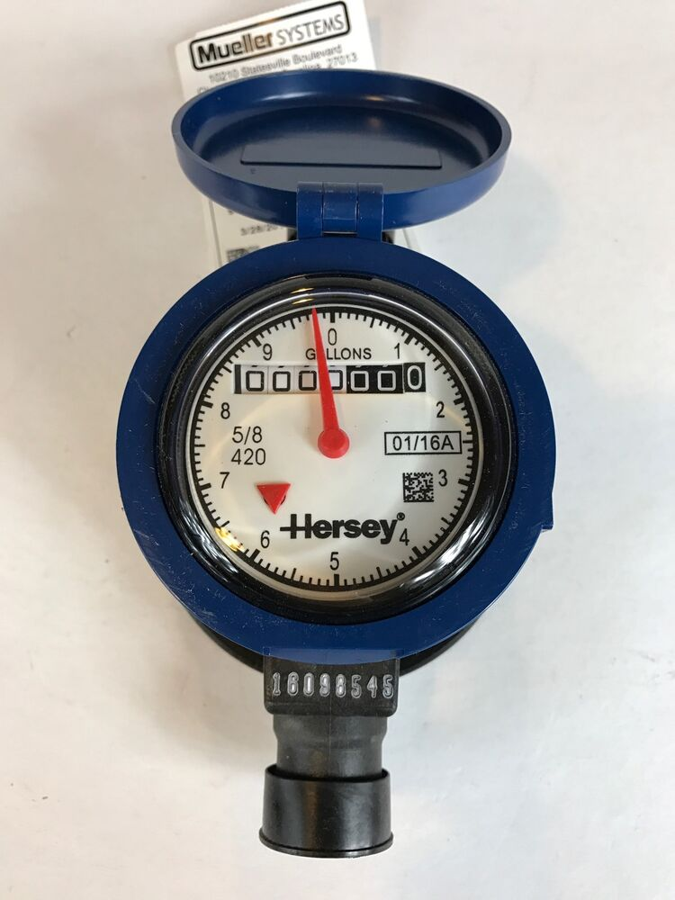 new mueller hersey 5 8 x 3 4 model 420 water meter voga204 composite pd ebay. Black Bedroom Furniture Sets. Home Design Ideas