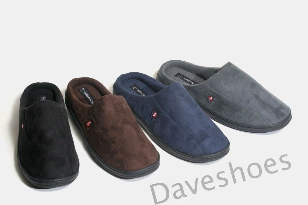 New Mens Cozy Warm Faux Suede Bedroom Casual House Clog Slippers Shoes Sandals Ebay