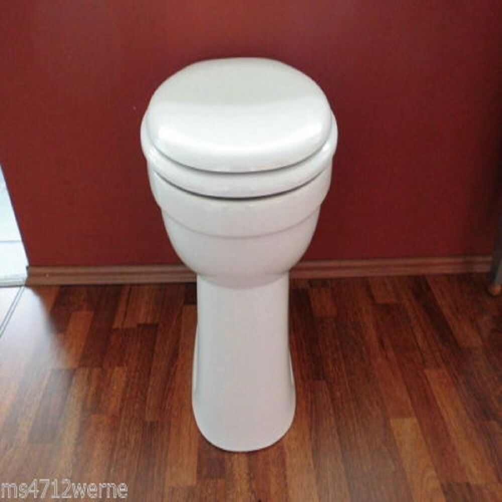 stand wc set toilette erh ht um 10 cm mit wc sitz mit absenkautomatik wei neu ebay. Black Bedroom Furniture Sets. Home Design Ideas