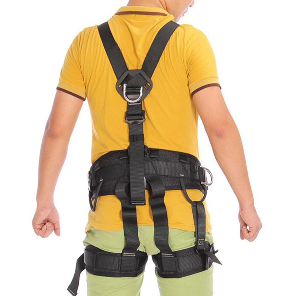 Pro Rock Climbing Safety Fall Arrest Protection Full Body Protection Harness