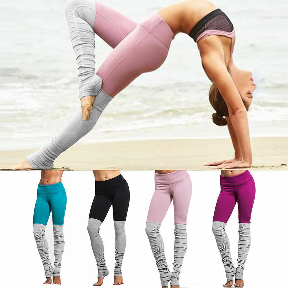 Women ladies running yoga fitness leggings pants gym for Lady fitness