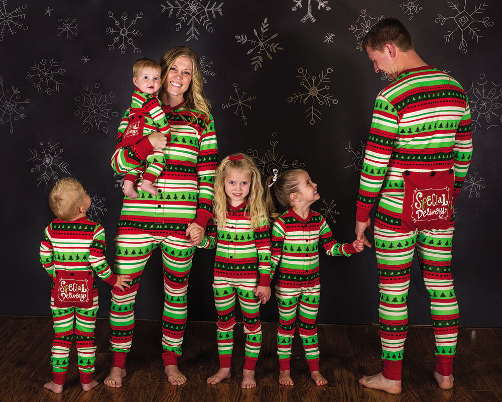 christmas striped pyjamas matching family pjs nightwear. Black Bedroom Furniture Sets. Home Design Ideas