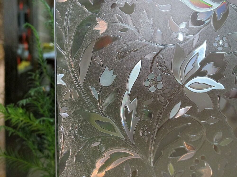 Premium 3d Reflective Decorative Etched Glass Frosted