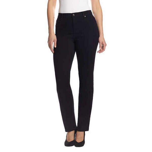 Gloria Vanderbilt Ladies' Amanda Stretch Denim Jeans – BLACK (Select Size)
