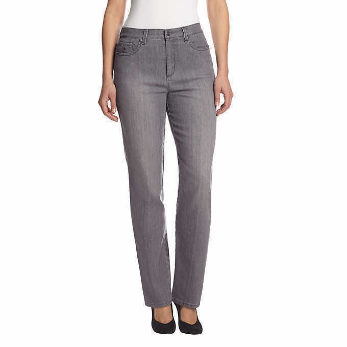 how to wear grey jeans ladies