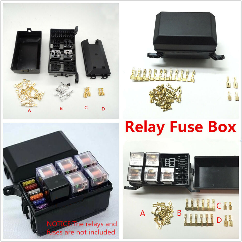Fuse And Relay Box For Automotive : Auto car fuse relay holder box socket road