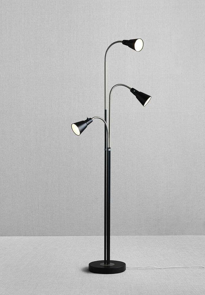 Ikea kvart triple 3 way adjustable floor lamp reading for Livorno 3 way floor lamp