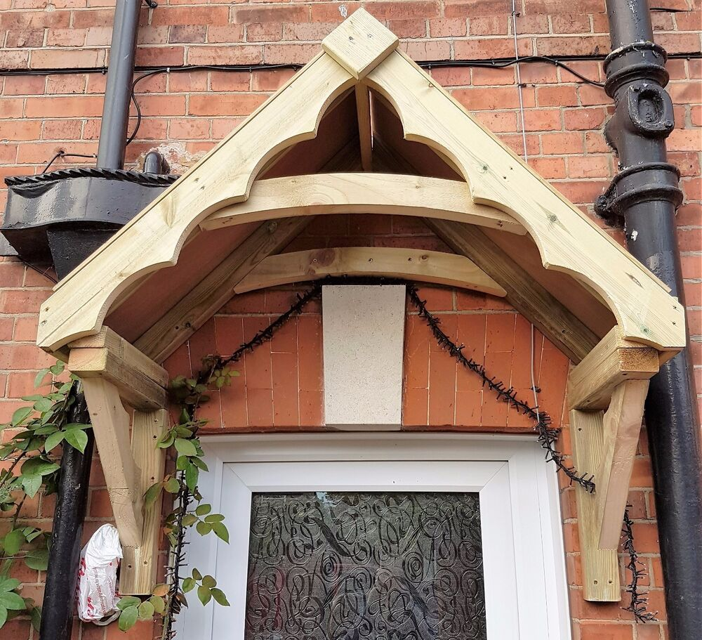 Wooden Front Porch Uk: Timber Cottage Style Front Door Canopy Porch