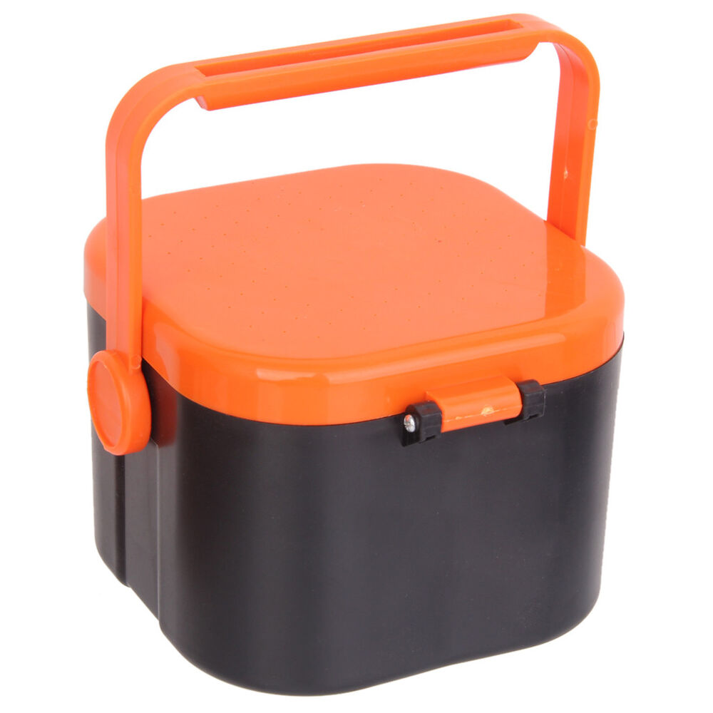Portable worms maggots live bait box holder container for Fishing worm box