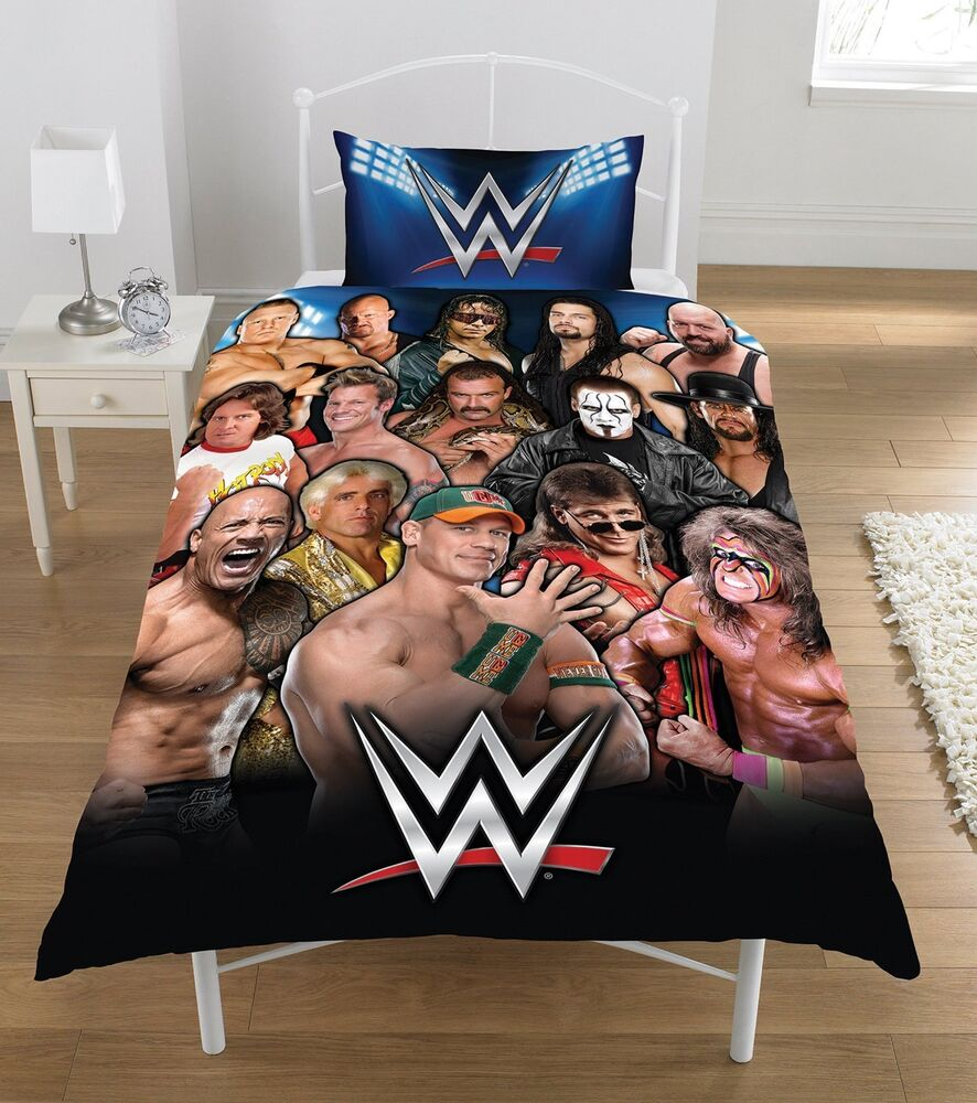 NEW WWE WRESTLING LEGENDS SINGLE DUVET QUILT COVER BEDDING