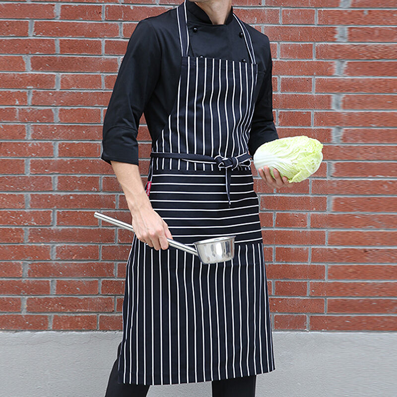 Women Men Black And White Kitchen Aprons Butchers Catering