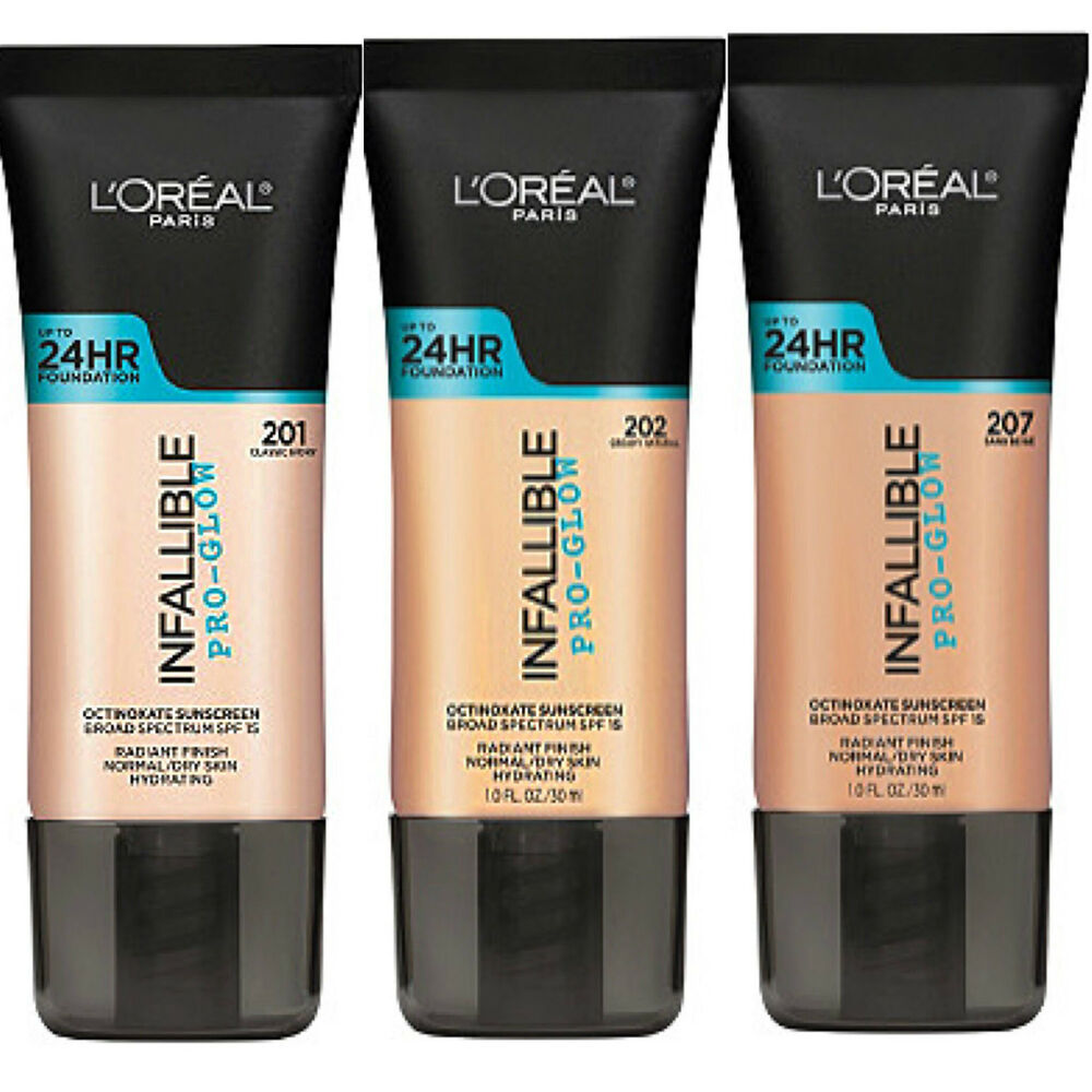 L'OREAL INFALLIBLE PRO-GLOW 24HR FOUNDATION NEW & SEALED PLEASE SELECT SHADE  | eBay